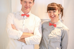 Sylvain et Céline M : noeud papillon de rigueur pour l'équipe Mister Harry