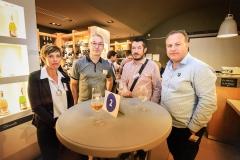 Joëlle Gaillard, Thierry Coquio (TSI), Cédric Meunier (Affilia TP) et Emmanuel Gaillard (SEIC)