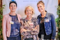 Annie Ravot, Maryse Joubert-Laurencin et Adriane Perrin (Agence Immobilière de l'Abbaye)