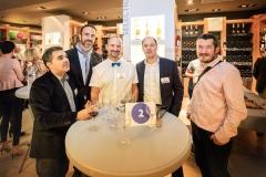 Jean-Michel Ferreira (Inforgestion), Didier Turck (Karenita), Thomas, Benoit Thibert (Inforgestion) et Cédric Meunier (Affilia TP)