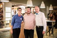 Céline C, Cédric Meunier (Affilia TP) et Claude Poux