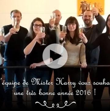 L'équipe Mister Harry vous souhaite une bonne année 2016