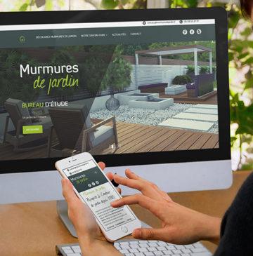 réalisation du site internet de l'entreprise Murmures de Jardin