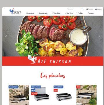site e-commerce collet cuisson